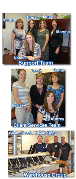 Client Service Team, Support Staff & Warehouse Group